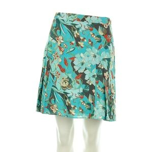 LAUNDRY BY SHELLI SEGAL FLORAL COTTON SKIRT SIZE 4